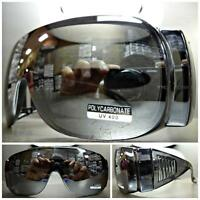 Men's Women Wrap Around Driving Safety Sun Glasses Over Rx Glass Fit Mirror Lens