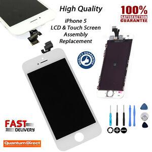 Recambio-Retina-Pantalla-LCD-amp-Digitalizador-Cristal-Tactil-para-Iphone-5-Blanco