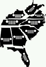 Jeep Sticker *Listing is for 1 Decal* ALL 50 States Available in 20 colors