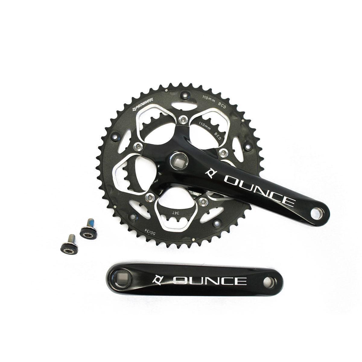 Biela 34 50 aluminio 170mm negra PROWHEEL  bici strada  hasta un 65% de descuento