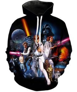 2018 Men/'s//women's Star Wars 3D Print Sweatshirt Hoodies Tops Pullover S-5XL SN3