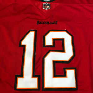 Details about NEW Tom Brady Tampa Bay Buccaneers Jersey All Stitched #12 Red Mens Size Medium!