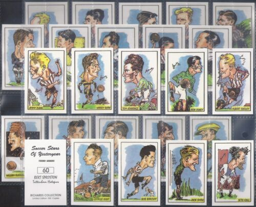 RICHARDS COLLECTION-FULL SET SOCCER STARS OF YESTERYEAR 3RD SERIES 25 CARDS