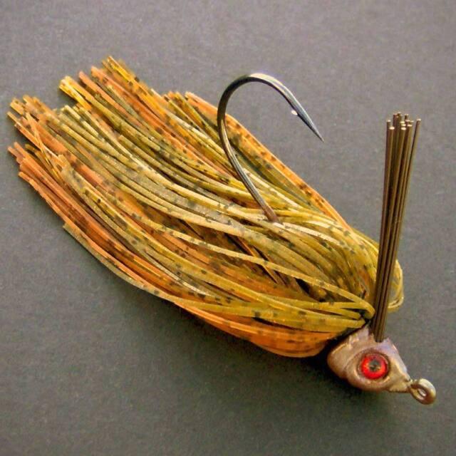 Bassdozer WISCONSIN swim jig. 1/4 oz COPPERNOSE weedless bass fishing jigs