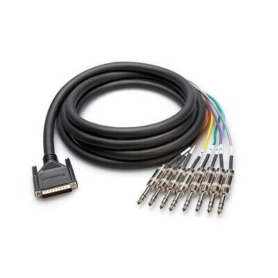 "Hosa CPP801 8 Way 1//4/"" TS Jack Unbalanced Snake Cable 1m"