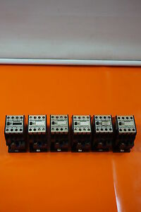 6-00-Unit-6x-Siemens-Sirius-3TH80-Protective-Auxiliary-Contactor-Line