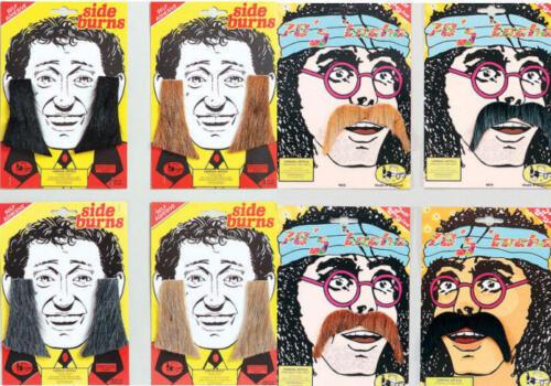 Side Burns Kit Var Colours 70s 60s 118 Tash Moustache