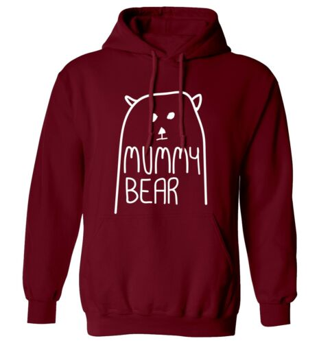 sweater matching family group son daughter illustration 4564 Mummy Bear hoodie