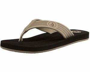 1ae7a63f2717 Image is loading NEW-MENS-VOLCOM-DAYCATION-KHAKI-FLIP-FLOPS-SANDALS-
