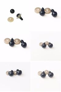 Round-Black-Plastic-Safety-Eyes-For-Dolls-Teddy-Bears-6mm-or-8mm-9mm-10mm-12mm