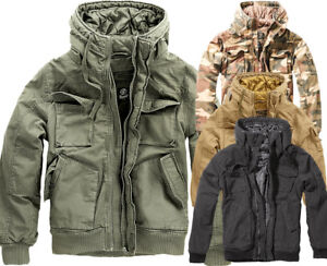 the best attitude 2272c 7d499 Details zu BRANDIT Herren Herbst Winter Jacke Vintage Army Outdoor  Bomberjacke Gesteppt