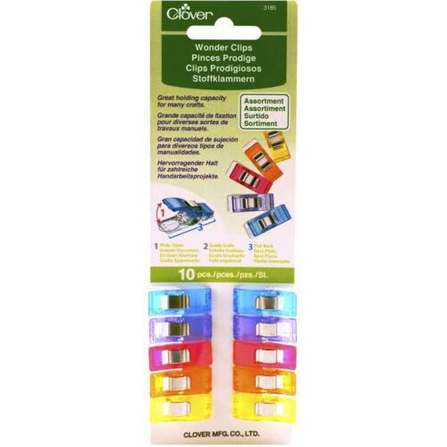 lot de 10 pinces Pinces Prodige multicolores Wonder Clips CLOVER