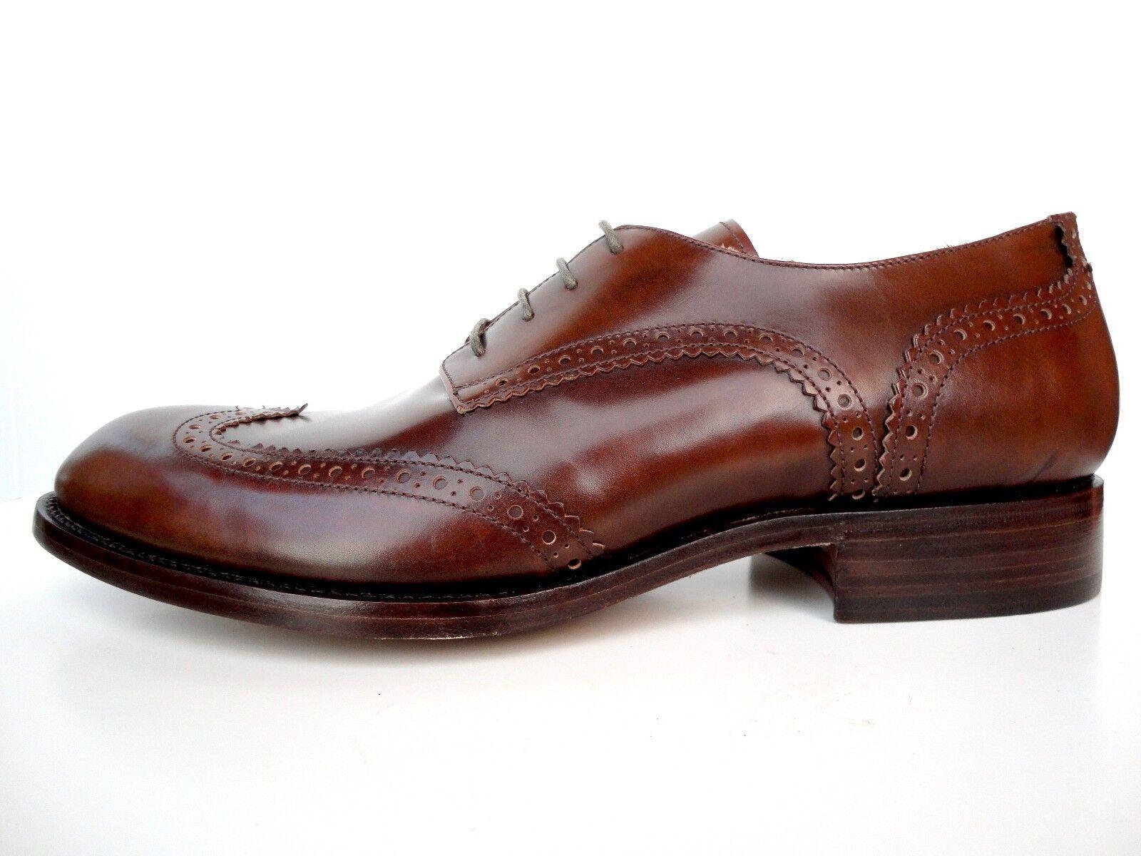 migliore offerta MADE TO ORDER ITALY CLASSIC CLASSIC CLASSIC scarpe HAND REAL LEATHER CUSTOM DARK Marrone 7-21 40-56  punto vendita