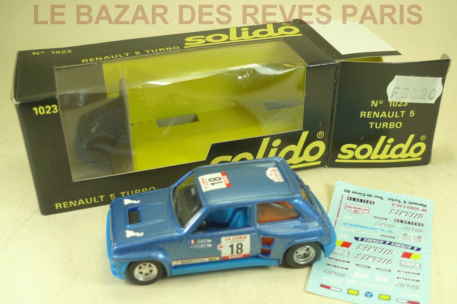 Solido france. renault 5 turbo + box. ref  1023