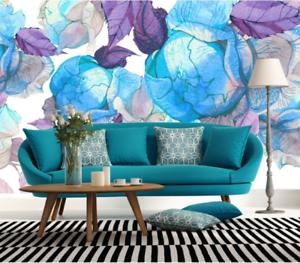 3D bluee Kokette pinkn 976 Tapete Wandgemälde Tapete Tapeten Bild Familie DE