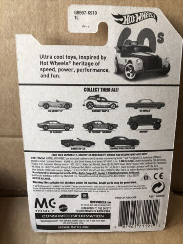 2//8 Combined Postage HOT WHEELS DIECAST Throwback Series 60s Cockney Cab II
