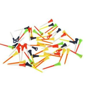 30PC-Multi-Color-Plastic-Golf-Tees-83mm-Durable-Rubber-Cushion-Top-Golf-Tee