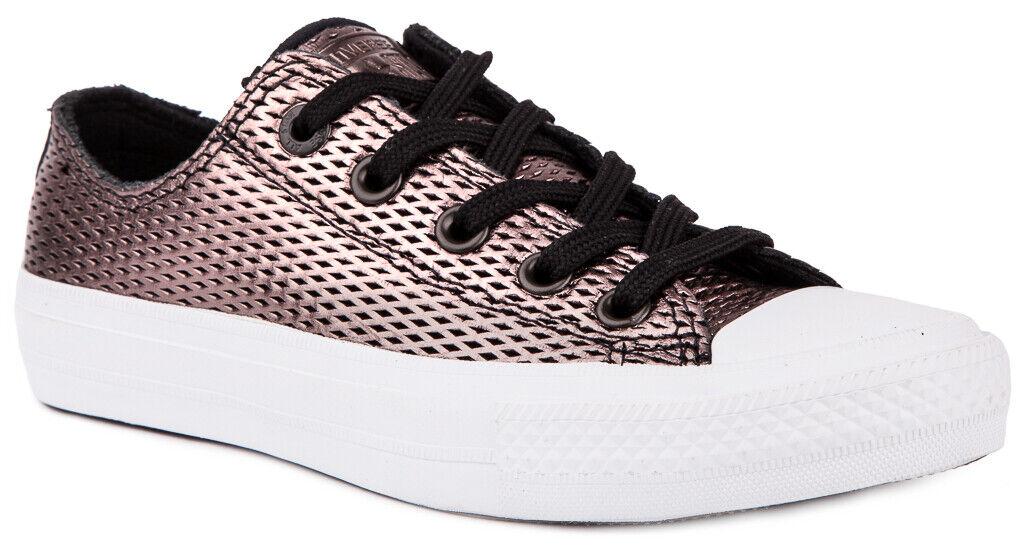 Converse Chuck Taylor All Star II Métallique Cuir 555799 C Baskets Chaussures Pour Femme