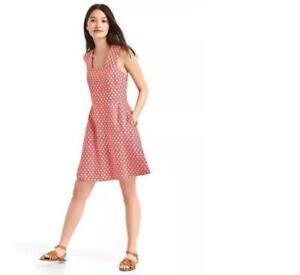 4e419f3d62 Gap Linen Fit and Flare Dress Sz 14 Tall Rosehip (102236)