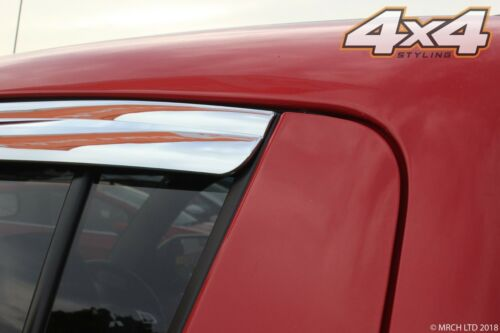 Chrome Wind Deflectors Set Double Cab 4 pieces For Mitsubishi L200 2006