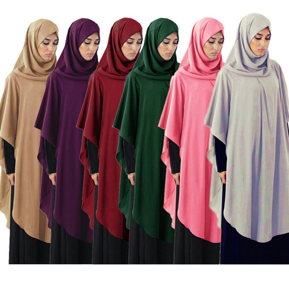 Islamic One Piece Large Khimar Women Long Hijab Hooded Tops Muslim Prayer Blouse