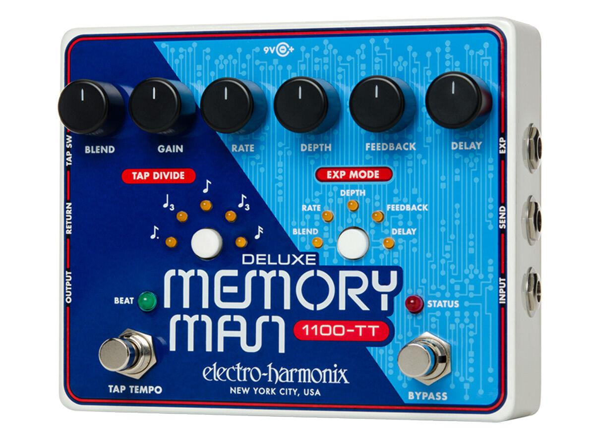 Electro-Harmonix Electro-Harmonix Electro-Harmonix Deluxe Memory Man 1100-TT Analog Verzögerung mit Hahn Tempo - c0bc26