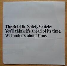 BRICKLIN SV-1 rare orig 1970s large format sales brochure