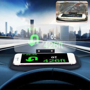 HUD-Screen-Car-Head-Up-Display-Projector-Navigation-GPS-Phone-bracket-new