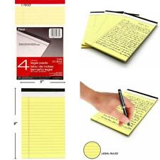 4 Pack Pad Writing Pads Canary Paper Legal Rule Perforated 50 Sheets 5 X 8 Inch