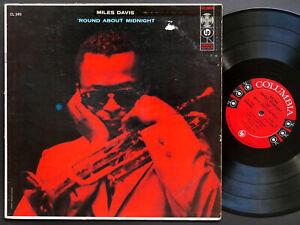 MILES-DAVIS-039-Round-About-Midnight-LP-COLUMBIA-CL-949-6-EYE-DG-MONO-John-Coltrane