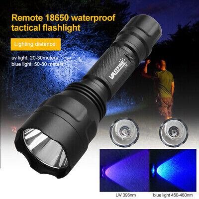 Long Range 395nm XPE UV LED Flashlight Hunting Torch Mount Rifle Gun Rail Parts