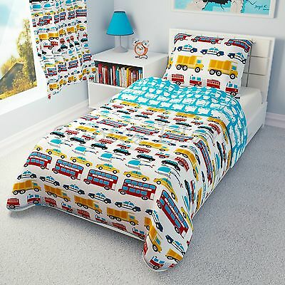 Kids & Teens At Home Transportation Reversible Boys Bedding Cover/pillowcase/bumper/curtains/duvet