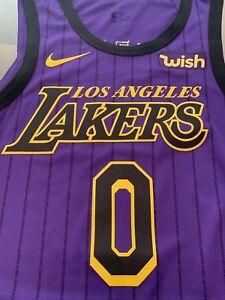 ca2f33bc590 Los Angeles Lakers AUTHENTIC NIKE Kyle Kuzma NBA Jersey Size 48 ...