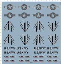 1/18 us navy swat intake aircraft Model Kit Water Decal