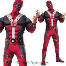 CL597 Deluxe Deadpool  Muscle Costume Marvel Comic X-Men Superhero Anti-Hero