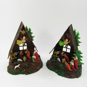 Vintage-Plastic-Nativity-Hong-Kong-427-T-Christmas-Figure-Craft-Imperfect-Lot