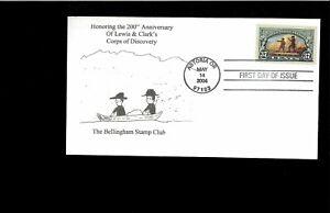 2008-FDC-Lewis-amp-Clark-Bicentennial-Astoria-OR-Bellingham-Stamp-Club