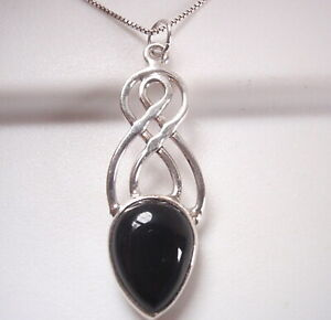 Black-Onyx-Double-Infinity-925-Sterling-Silver-Pendant