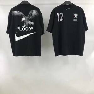 c25a608bbcca4 Nike X Off-White Men s T-Shirt Black Soccer Cropped Nikelab ...