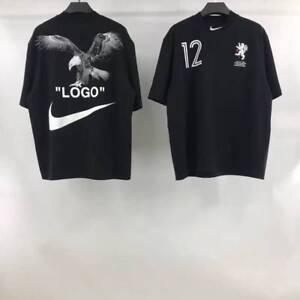 a7f7740e6 Nike X Off-White Men's T-Shirt Black Soccer Cropped Nikelab ...
