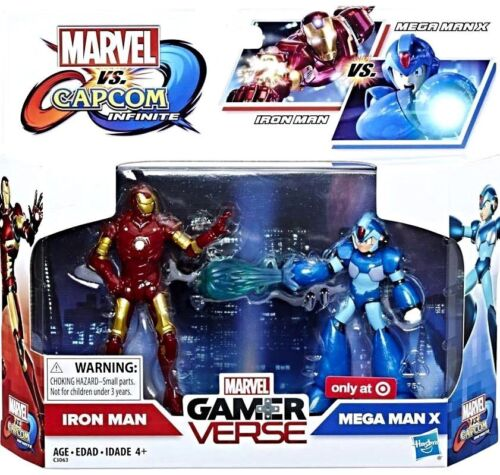 "Marvel Capcom Infinite Iron Man Vs Mega Man X 3.75/"" figure NEW Target Exclusive"