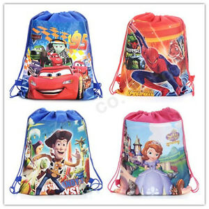 McQueen-Sophia-Toy-Story-Cartoon-Non-woven-Fabric-Party-Birthday-Drawstring-Bags