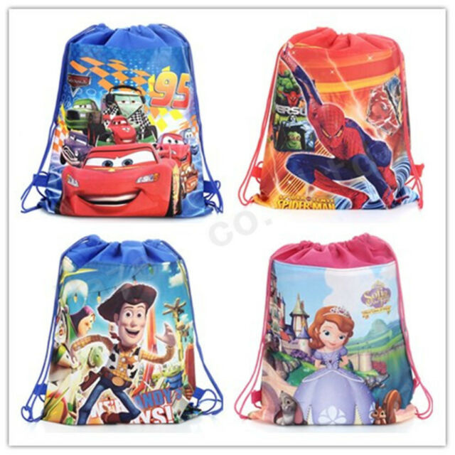 McQueen Sophia Toy Story Cartoon Non-woven Fabric Party Birthday Drawstring Bags