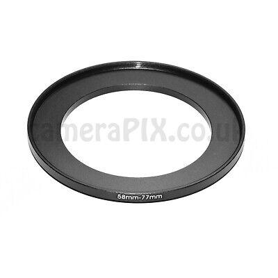 58mm a 77mm stepping maschio-femmina intensificare Filtro Anello Adattatore 58-77 58mm-77mm UK
