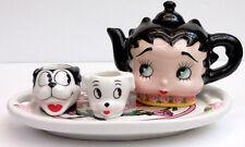 BETTY BOOP BED OF ROSES MINI TEA SET, VANDOR COMPANY, ITEM #10351