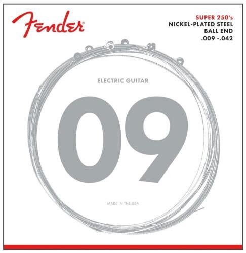Fender 250L Nickel-Plated Steel .009-.042 Light E-Gitarre Saiten Ball End