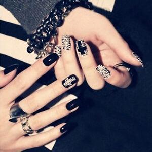 24Pcs-Black-amp-White-French-False-Nails-Nail-Art-Design-Nail-Tips-With-GlBP