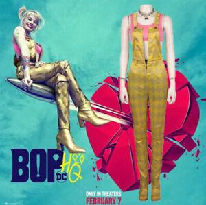 Birds Of Prey Harley Quinn Cosplay Costume Jumpsuit Full Set Deluxe Fancy Dress Ebay