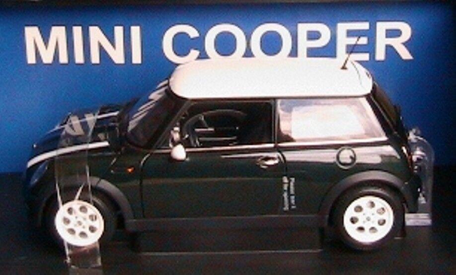 BMW MINI COOPER RACING vert & blanc STRIPES AUTOART 74827 1 18 AUSTIN