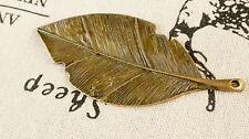 leaf bronze charm vintage style jewellery supplies C202